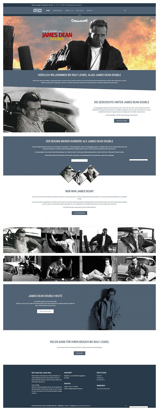 coolpack webdesign düsseldorf - James Dean Double